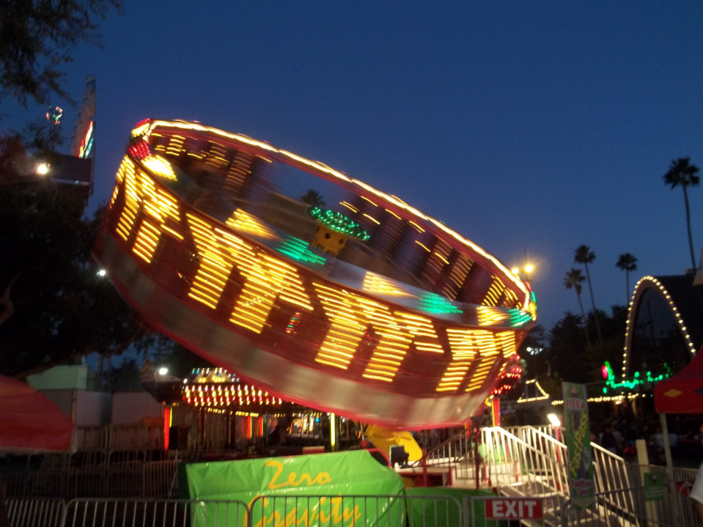 Spinning ride photo in high definition